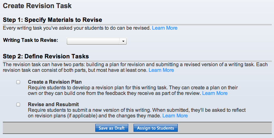 Create a Revision Task