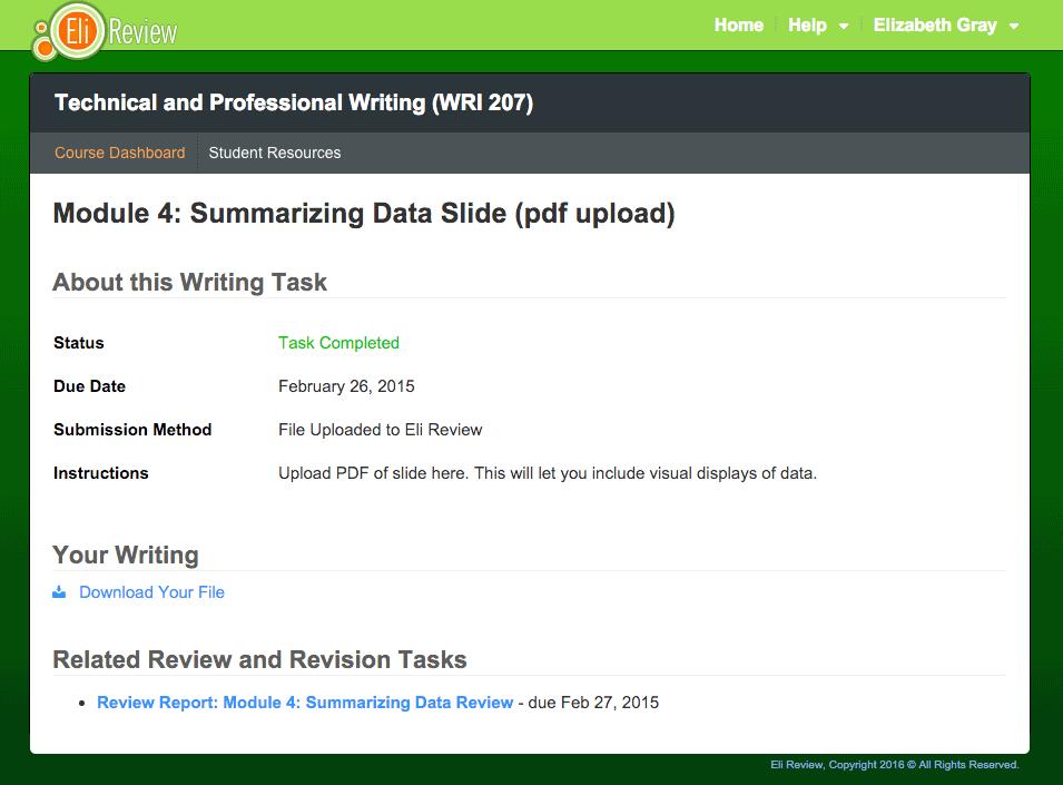 Essay task