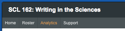 """Every Eli course now has an """"Analytics"""" link in its navigation."""