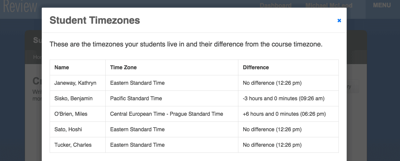 student-timezone-differences