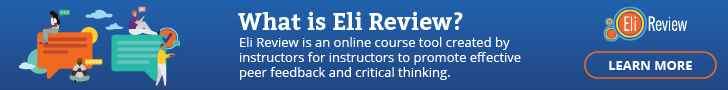 What is Eli Review? An online course tool for peer feedback and revision